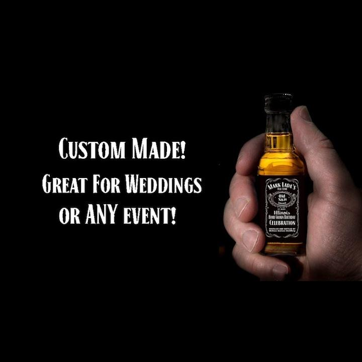 Custom Jack Daniels Mini Bottle Labels Wedding Fav