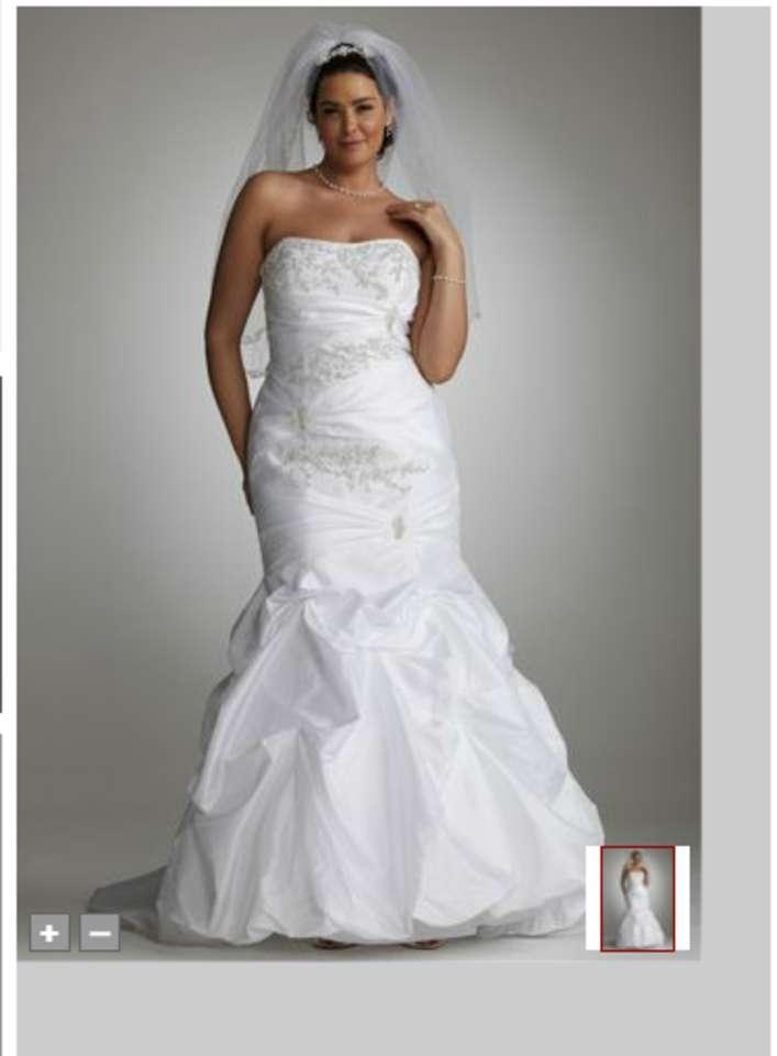 Tradesy error for Wedding dress david bridal