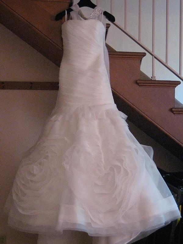 custom couture silk organza wedding dress with laz wedding dress