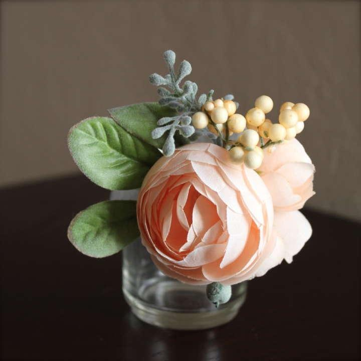 elegant white rose boutonniere in west los angeles ca westwood - Garden Rose Boutonniere