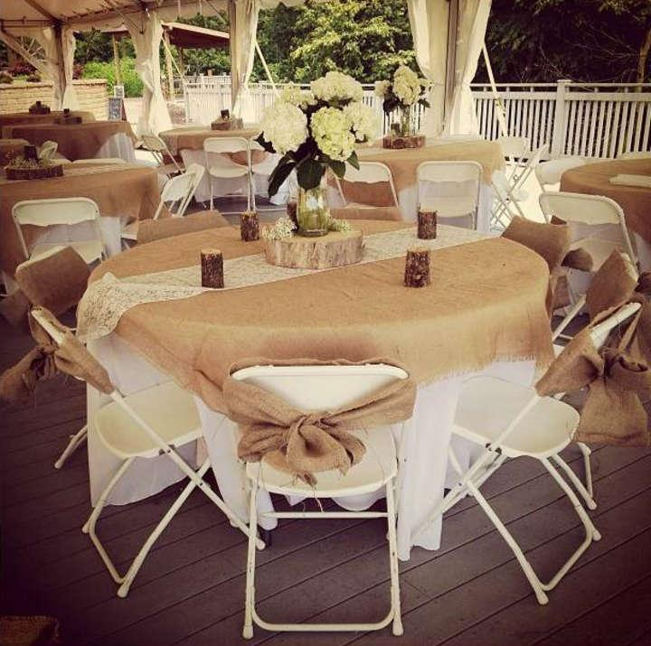 Burlap Tablecloths Sashes Lace Runners