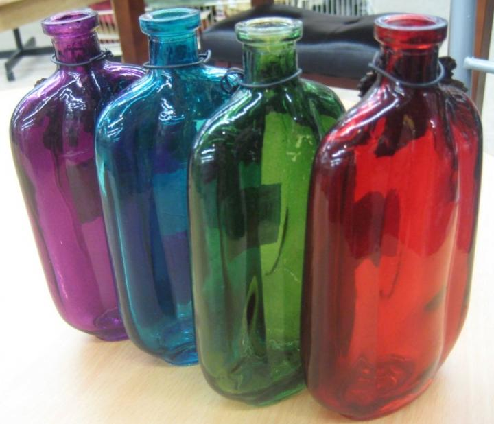Glass Bottles Votives Clear Multi Colored Tradesy Weddings