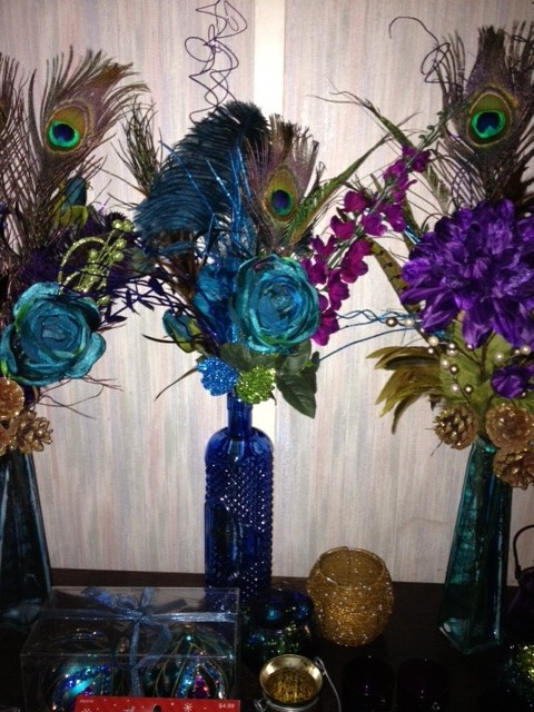 Peacock centerpieces tradesy weddings