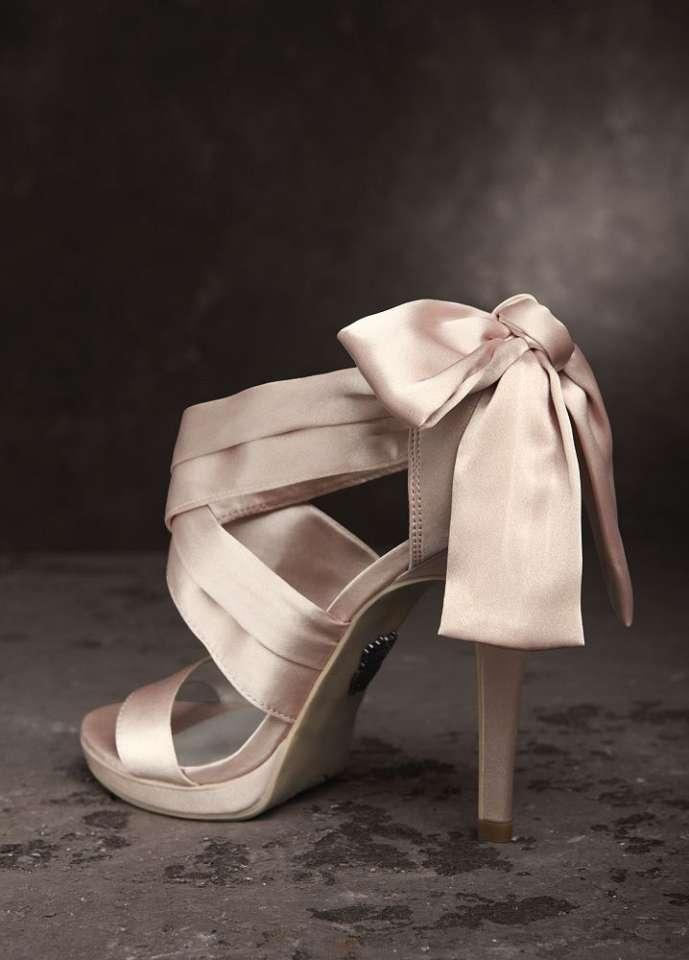 blush bow wedding shoes tradesy weddings