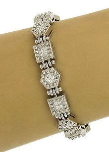 Ivan & Co. Estate,Ivan,Co.,18k,1.00ct,Diamonds,Geometric,Link,Bracelet