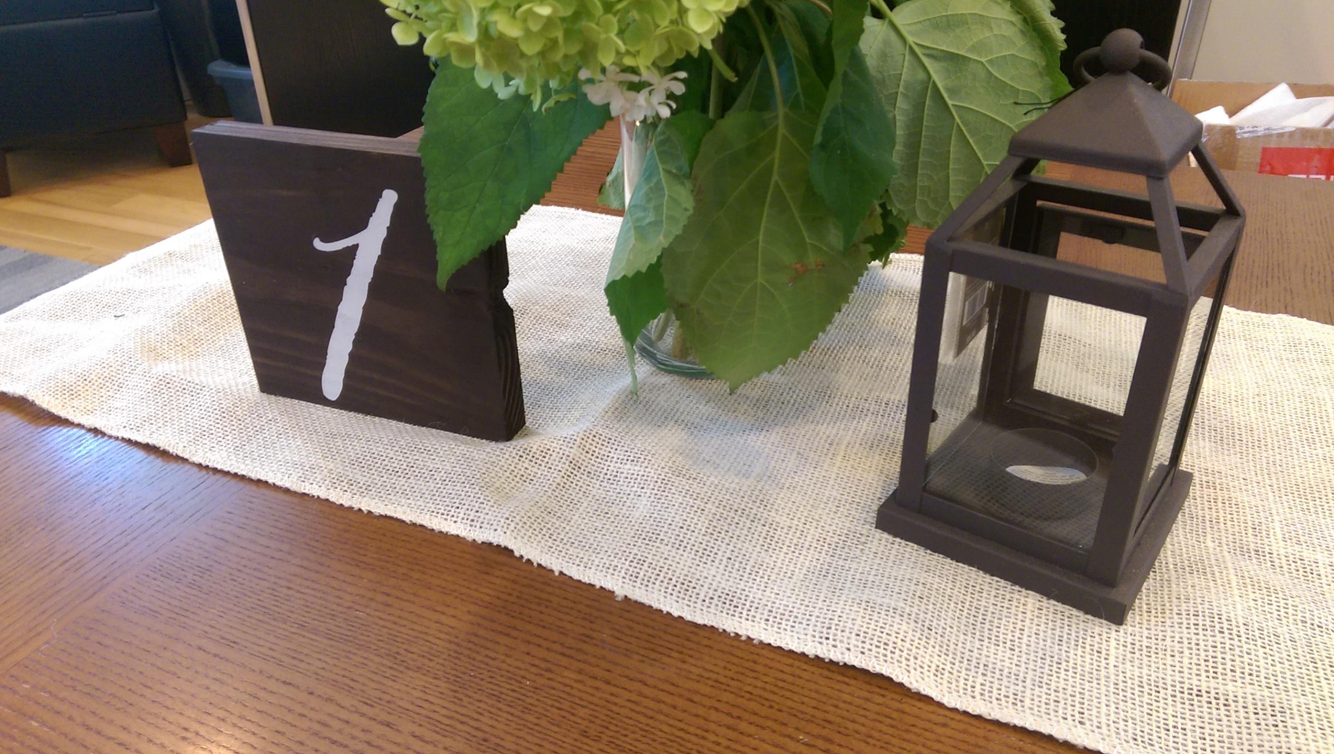 Ivory Burlap Table Runners Tablecloth ...
