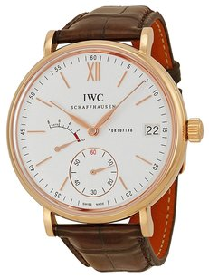 IWC IWC Portofino Automatic Silver Dial Brown Leather Strap Mens Watch IW510107