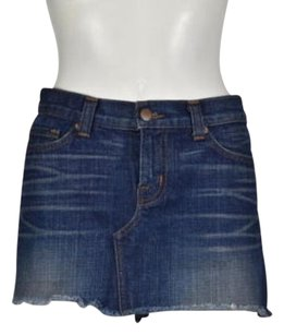 J Brand J Womens Jean 27 Casual Mini Above Knee Wash Skirt Blue