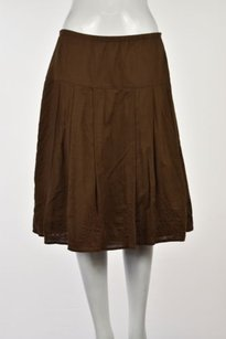 J. Jill J Womens A Line Skirt Brown