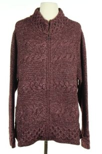 J. Jill J Womens Marron White Sweater