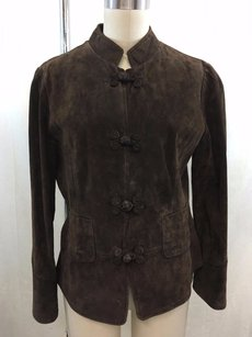 J. Jill Suede Frog Button Brown Jacket