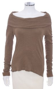 James Perse Cowl Neck Longsleeve Brown Sweater