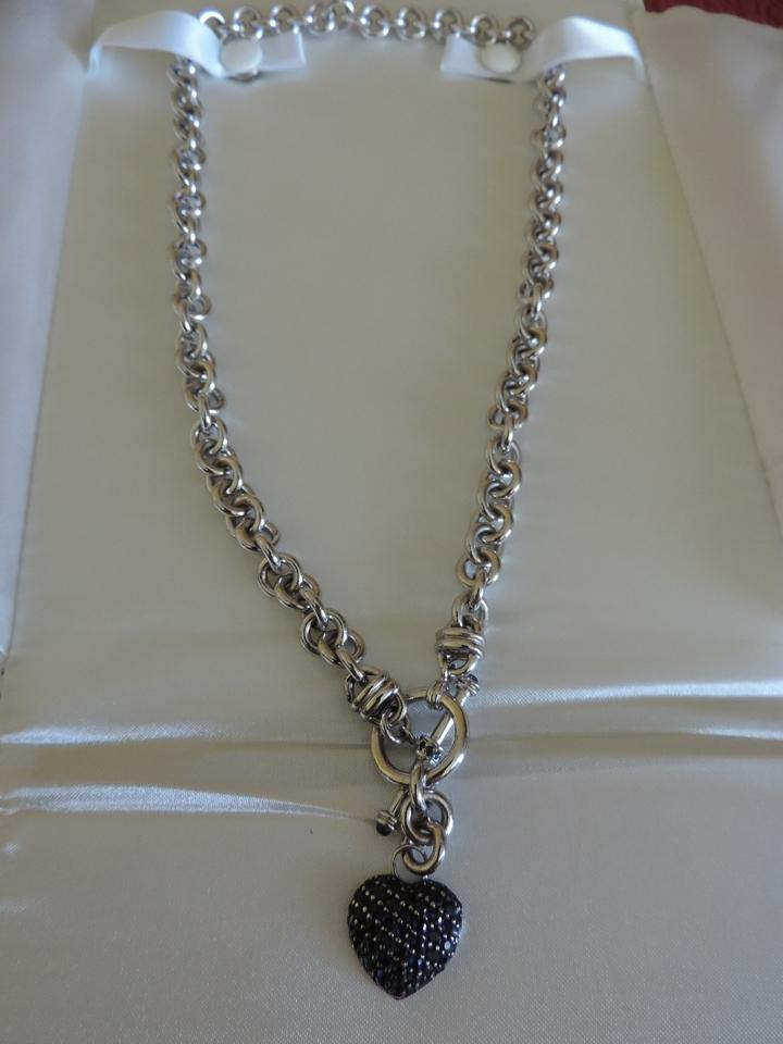 Jared Silver Toggle with Labcreated Sapphire Necklace Tradesy