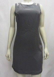 Jay Godfrey short dress Grays Grey Silk Lined Cutout Sheath Slip In Pocket 70381f on Tradesy