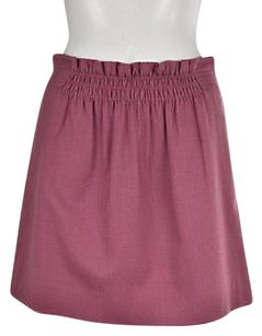 J.Crew Womens Mauve A Line Wool Above Knee Casual Skirt Pink