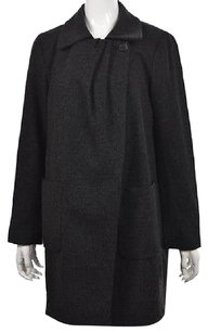 J.Crew Womens Plaid Basic Wool Long Sleeve Casual Coat