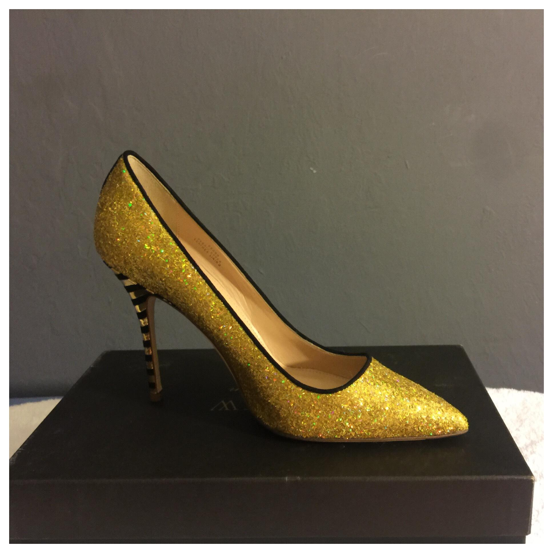 38bb5cc77bff J.Crew Black and Yellow New Collection Roxie Roxie Roxie Glitter Women Pumps  Size US 8 Regular (M