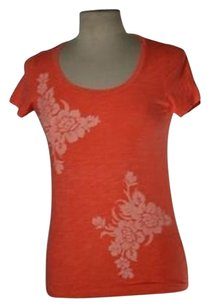 J.Crew J Crew Womens White Top Orange