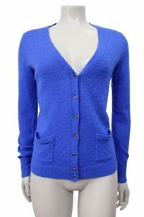 J.Crew Bling Button Cardigan Wool Blend Style 36057 Royal Sweater