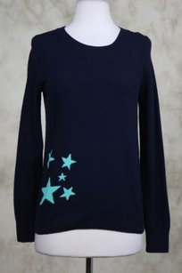 J.Crew J Crew Womens Teal Stars Sweater