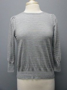 J.Crew Striped Merino Wool Sleeves Crew Neck Sma 2269 Sweater