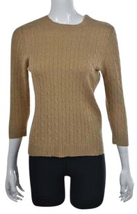 J.Crew Womens Crewneck Cable Knit Cashmere Party Shirt Sweater