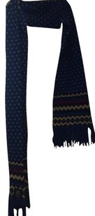 J.Crew Drakes of London J.crew Collaboration blue wool Nordic ski scarf new $150
