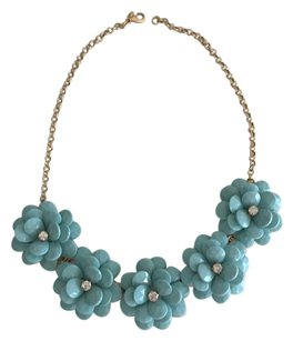J.Crew floral crystal necklace