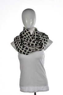 J.Crew J Crew Womens Black Ivory Infinity Scarf Os Wool Checkered Casual