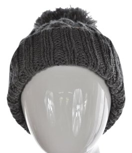 J.Crew J Crew Womens Gray Beanie One Cable Knit Cotton Blend