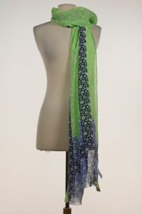 J.Crew J Crew Womens Green Floral Scarf One Viscose