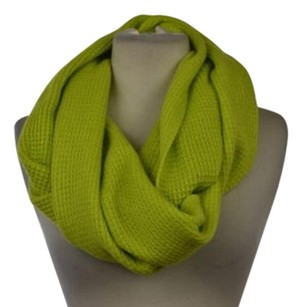 J.Crew J Crew Womens Green Knit Infinity Scarf Os Wool Casual