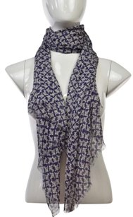 J.Crew J Crew Womens Purple Printed Scarf One Casual