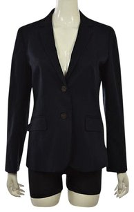J.Crew J Crew Womens Navy Blazer Wtw Career Cotton Long Sleeve Jacket