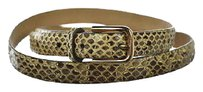 J.Crew J Crew Womens Ivory Brown Slim Width Belt Animal Print Leather