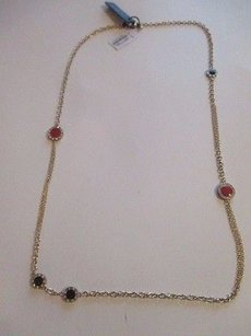 J.Crew J.crew Crystal Dot Chain Necklace Item 04739 Red Black