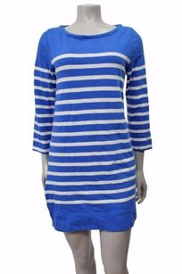 J.Crew short dress Blue-white Shift on Tradesy