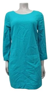 J.Crew short dress Teal Jules In Wool on Tradesy