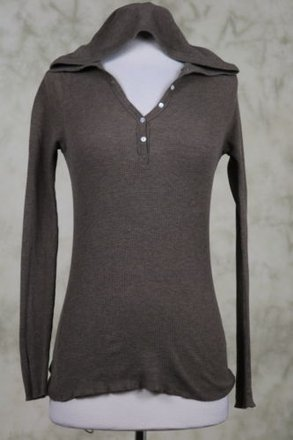 1ba94d174582 J.Crew J Crew Womens Brown Hooded Sweater Cotton Thermal Shirt Long Sleeve  70%