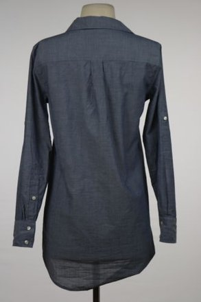 83f47d1a J.Crew J Crew Womens Blue Blouse Cotton Long Sleeve Casual Top Shirt low-