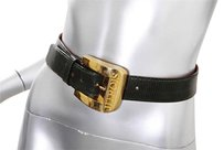Jean Claude Jitrois Jean Claude Jitrois Womens Vintage Dark Green Lizard Leather Belt Xss 70
