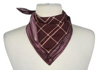 Jean-Paul Gaultier Jean Paul Gaultier Womens Burgundy Printed Kerchief Scarf Os Cotton Casual