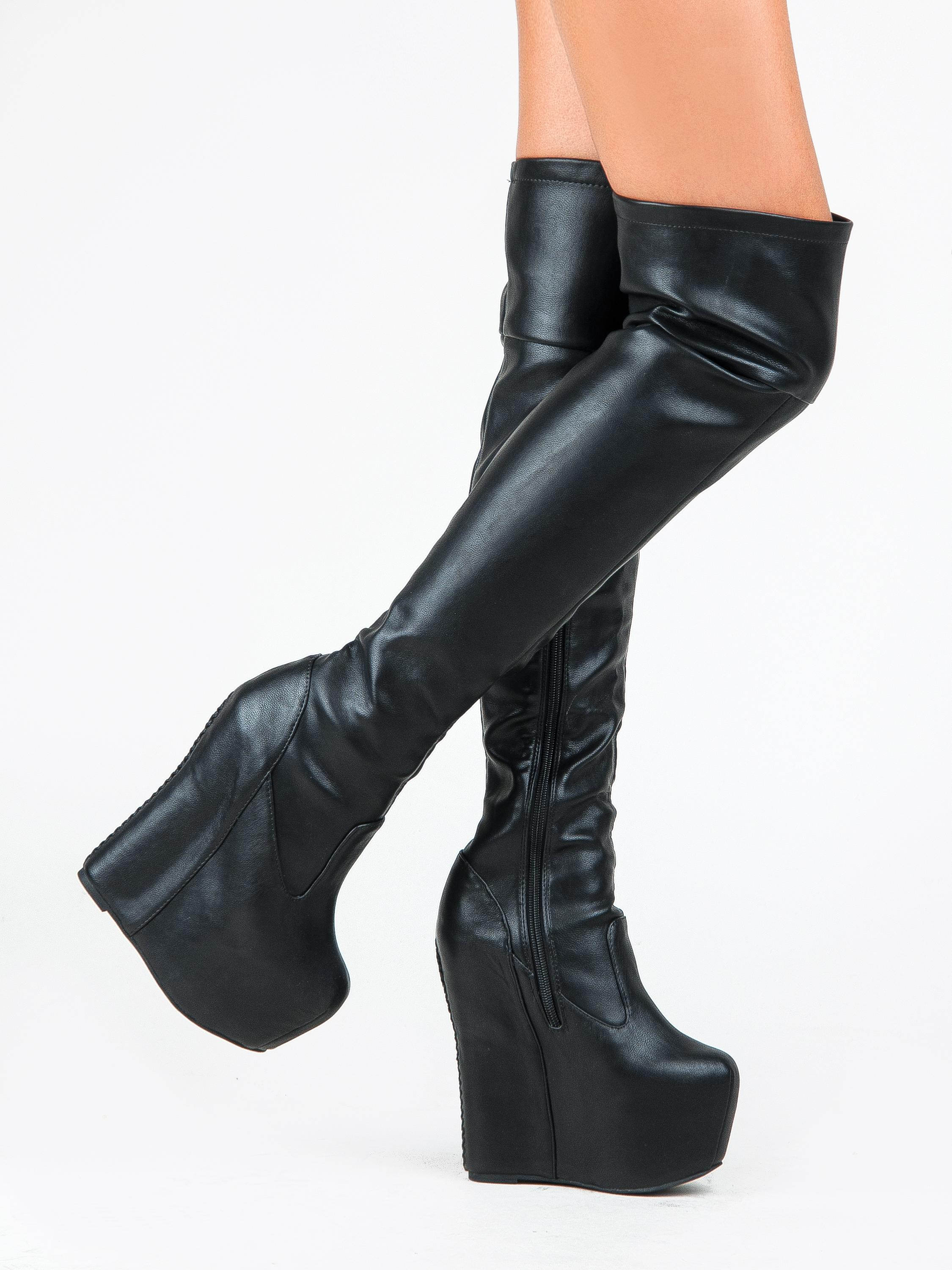 jeffrey campbell Noir  daRouge ordinaires evil bottes / chaussures ordinaires daRouge (- 8 taille m, b) 32a5cb