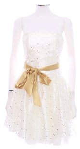 Jessica McClintock Sequin Prom Polka Dot Strapless Dress