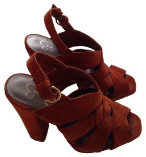 Jessica Simpson Suede Orange Platforms
