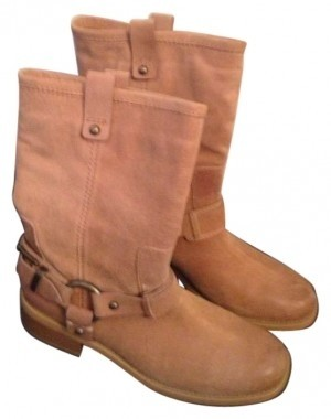 01c5a6bf2fe Jessica Simpson Tan Beige Inna Rider Rider Rider Boots Booties Size US 8.5  3d37a3