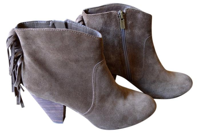 Jessica Simpson Taupe US Suede Fringe Boots/Booties Size US Taupe 6.5 a8f64d