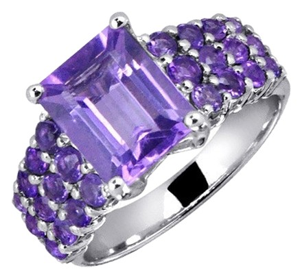 Jeweler's Club 3.6 Carat Total Weight Genuine Amethyst Ring in Sterling Silver