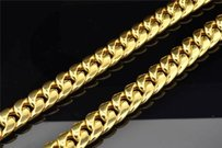 Jewelry For Less 10k Heavy 11.22mm Yellow Gold Miami Cuban Link Franco Chain Necklace Inch