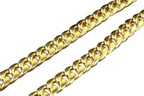 10k Heavy 11.22mm Yellow Gold Miami Cuban Link Franco Chain Necklace Inch